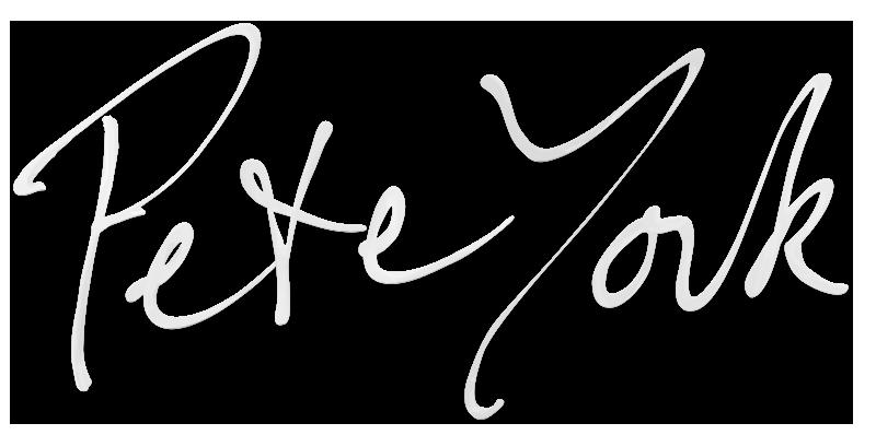 Pete York sign